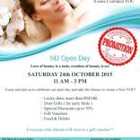 MJ Open Day – 24th Oct 2015, Saturday
